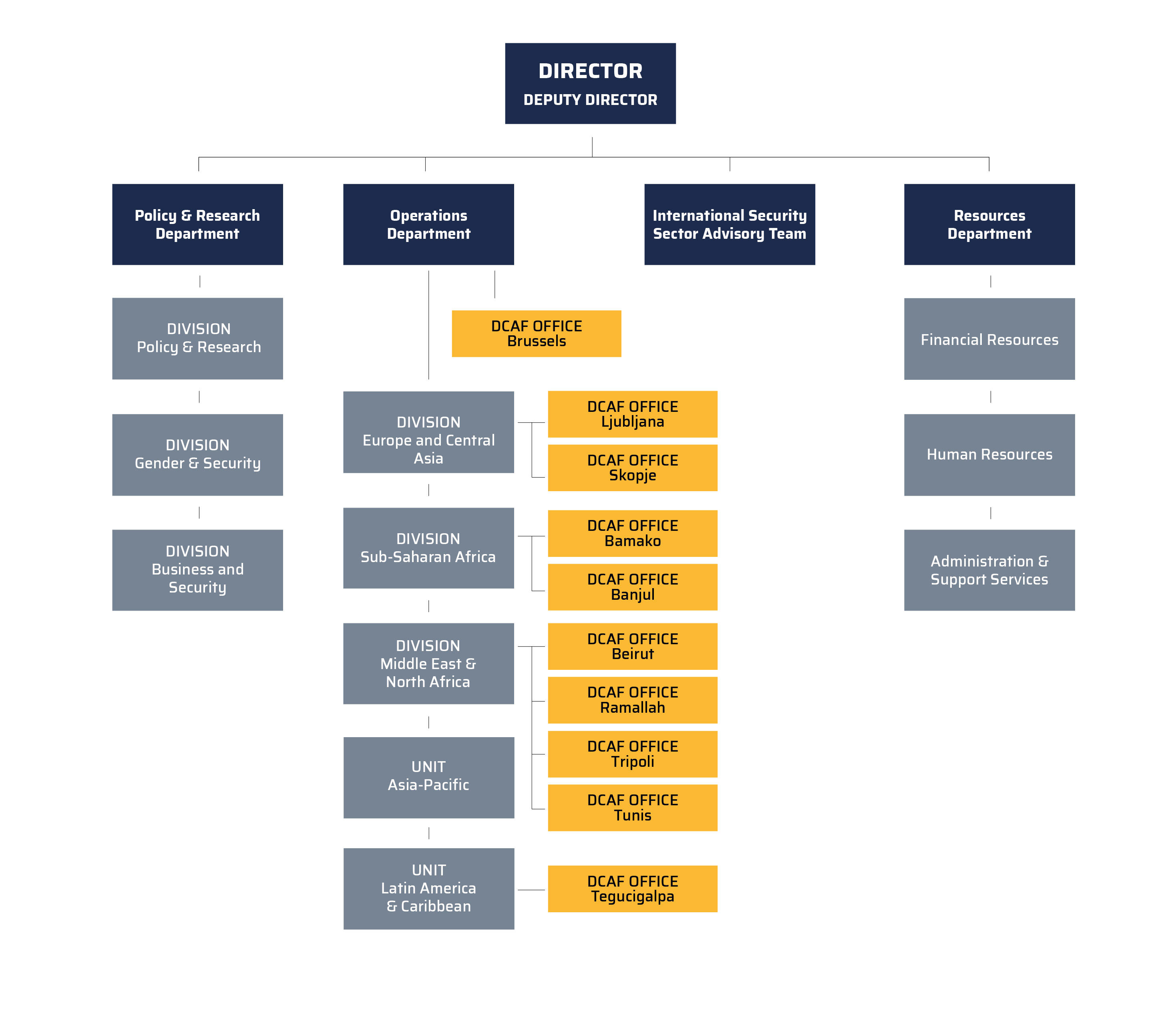 DCAF Organizational Structure