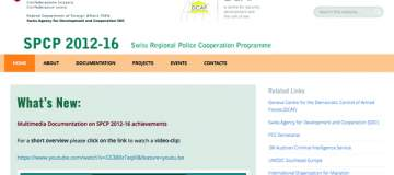 Swiss regional police cooperation programme