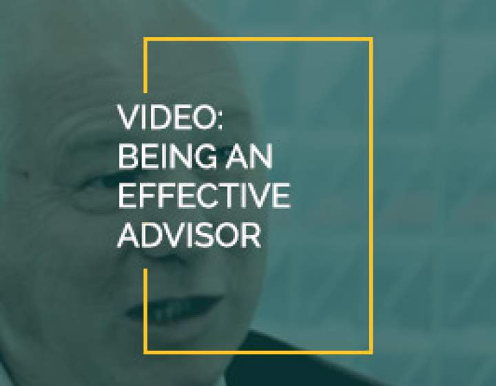 Being and Effective Advisor- Senior Advisor Piet Biesheuvel